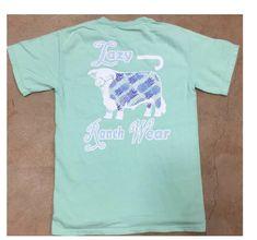 7d549e1a52a6a9 Lazy J Island Reef Pineapple Hereford Seafoam Green Pocket T-Shirt