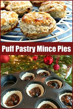 Puff pastry mince pies are a great traditional and festive hristmas bake made with easy to find store cupboard ingredients. Christmas Treats, Christmas Baking, Easy Mince Pies, Cranberry Cheesecake, Frozen Puff Pastry, Mince Meat, Pastry Brushes, Dried Cherries, Home Baking