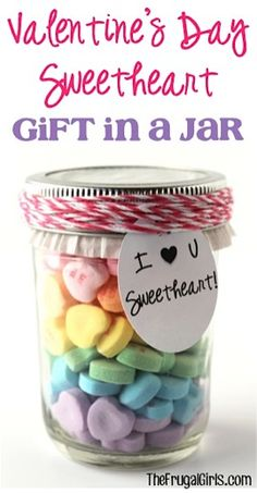 Valentines Day Sweetheart in a Jar