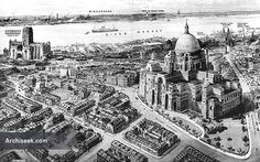 1930 - Lutyens' design for new Cathedral, Liverpool