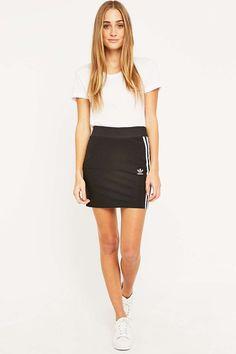 adidas Three Stripe Black Mini Skirt 2d71f5373