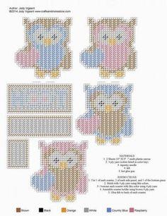 99 best images about Plastic Canvas-Owls Plastic Canvas Coasters, Plastic Canvas Tissue Boxes, Plastic Canvas Crafts, Plastic Canvas Patterns, Plastic Mesh, Owl Patterns, Bead Patterns, Crochet Patterns, Plastic Canvas Christmas