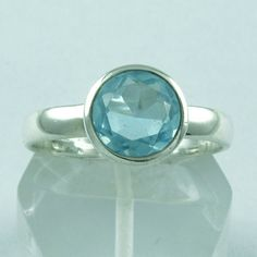 EYE CATCHING 925 STERLING SILVER RING BLUE TOPAZ JEWELRY S.8 US R2105 #SilvexImagesIndiaPvtLtd #Statement