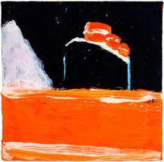 "Katherine Bradford, ""Titanic Orange Sea"" (2012) (click to enlarge)"