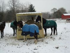 Round bale feeder home made - Google Search