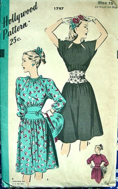 1940s Hollywood Dress Pattern