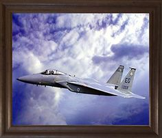 A wonderful framed poster for your creative designed home from Impact Posters Gallery. This amazing F-15 Eagle poster will surely enhance the beauty of your room's wall and catch your fancy for sure. The F-15 Eagle is all-weather, extremely maneuverable, tactical fighter plane which is designed to permit the Air Force to gain and maintain air supremacy over the battlefield. You'll be proud to hang this framed art on your walls of your home. Its wooden brown rust frame accentuates the poster…