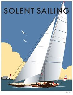 Solent Sailing Print at Whistlefish Galleries - handpicked contemporary & traditional art that is high quality & affordable. Available online & in store