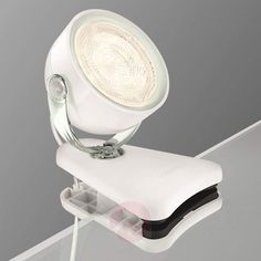 Transparent LED bordlampe Dyna, med klemme-7531440-31