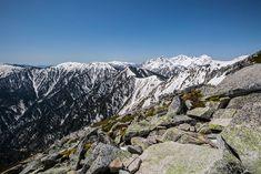 【常念岳 三股】登山百景-穂高岳がよく見える