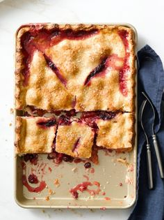 Gingered Peach-Blackberry Slab Pie Williams-Sonoma