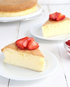 "Get this tested, easy to follow recipe for gluten free Japanese cheesecake—they call it ""cotton cheesecake"" because it's light as cotton!"