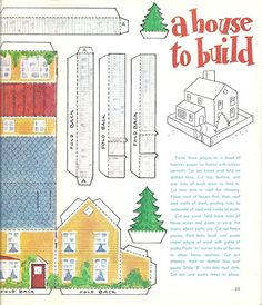 Jack & Jill magazine cut-outs - Lorie Harding - Picasa Web Albums Paper Doll House, Paper Houses, Cardboard Toys, Cardboard Houses, Putz Houses, Mini Houses, Doll Houses, Paper Art, Paper Crafts