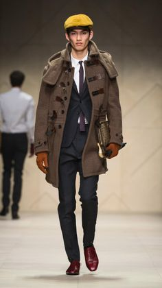 mens hugo boss duffle coat | Burberry Prorsum Luggage Lock Felted Duffle Coat in Brown for Men ...