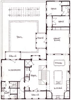 1b74324012113a5e483fcbd2f5b9b043 office plan house plans with photos ranch style house plan 2 beds 2 5 baths 2507 sq ft plan 888 5,L Shaped 2 Story House Plans