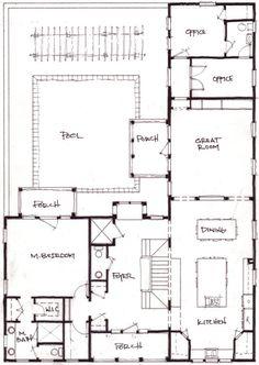 L Shaped House Design For Back Corner Of Camp Expansion.