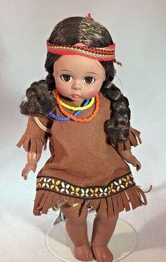 "Vintage Madame Alexander Pocahontas #721 with Papoose 8"" Doll 1966 BK #MadameAlexander #Dolls"