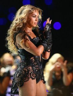 Beyonce performing at the 2013 Super Bowl in New Orleans on Sunday February 3.
