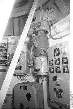 View aboard battleship Bismarck, 1940-1941