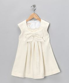 Take a look at this Ivory Harp Dress - Toddler by Cavelle Kids on #zulily today!