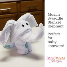 Turn Swaddling Blankets Into An Elephant. This is how I'm storing all our old swaddling blankets now (waiting for the next baby)!