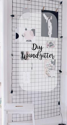 DIY Wandgitter - Gitterwand selber machen - Dekogitter -Moodboard - Pinnwand