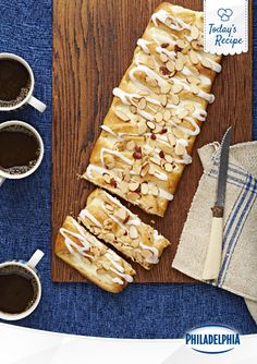 Delicious glaze drizzle. Check. Soft, warm sweetness, perfect for a cold afternoon. Double check. Sliced almonds to bring home the yum. Checkity-check-check.