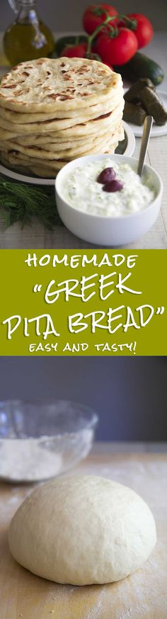 GREEK PITA BREAD RECIPE - easy and tasty! - Greek Pita bread is an ingredient always present in my fridge or my freezer. This recipe is very simple to prepare and easy to store and reheat. I love to pair Pita with my preferred appetizers and salads, or filling it with roasted meats, or simply seasoning with olive oil, oregano and sea salt! Whether it is breakfast, lunch or dinner, every time is Pita time! TAGS: #Greek #pita #bread #vegan #vegetarian #party #recipes #appetizer #tzatziki…