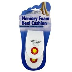 """Heel Cushions Case Pack 48 - 534966 by DDI. $70.10. A pair of white, memory foam heel cushions to help reduce heel shock and pressure.  Comes with double-sided adhesive pads.  Each measures 4 3/8"""""""" x 2 3/4"""""""" tapering from 1"""""""" to 1/8"""""""".  The set comes in blister card package with UPC code."""" Case Pack 48 Please note: If there is a color/size/type option, the option closest to the image will be shipped (Or you may receive a random color/size/type). As we rotate stock, ..."""