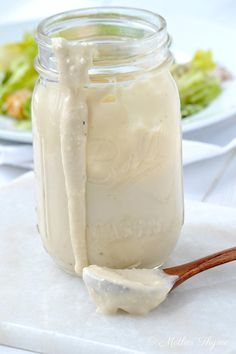 Caesar Salad Dressing...greek yogurt, parm cheese, lemon juice, worcestershire, garlic, pepper