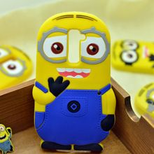 For LG Optimus G2 case LG G2 covers Cartoon Despicable Me Yellow Minion Soft Rubber Silicon Cases Back Cover Case(China (Mainland))