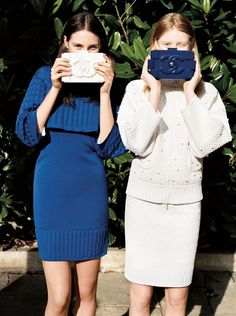 Stephanie Hall and Charlotte Wiggins in Chanel, Spring 2013 photographed by Angelo Pennetta for Vogue UK, February 2013.