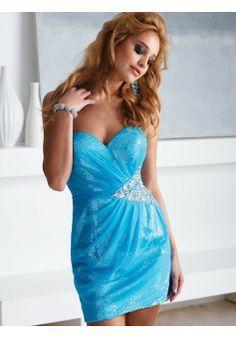 A-line Sweetheart Sleeveless Chiffon Homecoming Dress With Beaded #FM866