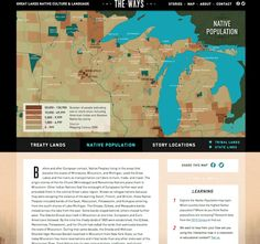 Interactive map available as part of cost free social studies storytelling resource that focuses on Great Lakes Native culture.
