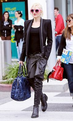 Gwen Stefani, 2013. So, so chic, such effortless monochromatic style. Simplicity wins. Loves her!