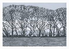 Stiffkey Trees linocut 39 x 27 cm £260