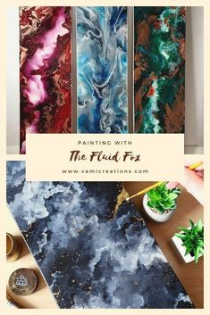 Looking to learn more about the Fluid Fox and her stunning artwork? Or see more of her paintings? Click through to find more about this amazing artwork and more about pour painting! #artwork #pourpainting