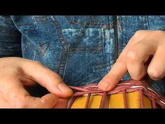 Плетение веревочкой(укладка петель)