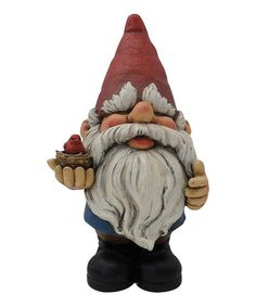 Another great find on #zulily! 8'' Gnome with Bird Statue #zulilyfinds