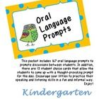 This packet includes 167 oral language prompts to promote discussions between students. In addition, there are 13 student choice cards that allow t...
