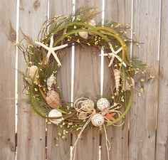 Christmas Wreath Beach House Door Wreath