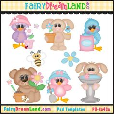 Fun in the Garden CU Template Collection by FairyDreamLand.com