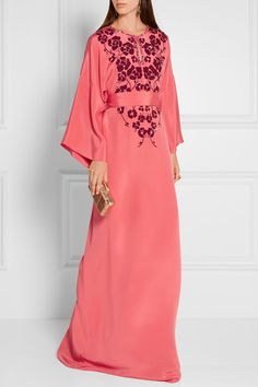 Oscar de la Renta | Embellished silk crepe de chine gown | NET-A-PORTER.COM