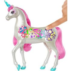 Barbie Dreamtopia Brush 'n Sparkle Unicorn with Lights and Sounds, White with Pink Mane and Tail, Gift for 3 to 7 Year Olds Mattel Barbie, Barbie Shop, Barbie Dolls, Barbie Fashionista, Toys R Us, Girl Hair Colors, Pink Doll, Mane N Tail, Chelsea