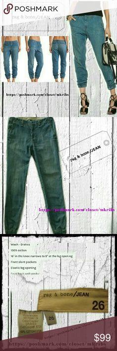 ⭐ Rag and bone Pajama pant joggers 26 Cute, comfy, and fashionable. Rag & Bone pajama pants with elastic leg. Excellent condition. rag & bone Jeans