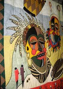 headpiece quilt African Quilt Show Artist? African Quilts, African Textiles, African American Art, African Art, Funky Hats, Fiber Art Quilts, International Quilt Festival, African Theme, Crochet Quilt