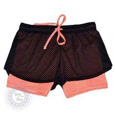 Heal Orange Women Sport Fitness Yoga Shorts Women Athletic Shorts Cool Ladies Sport Running Short Fitness Jogging 2 In 1 #EW