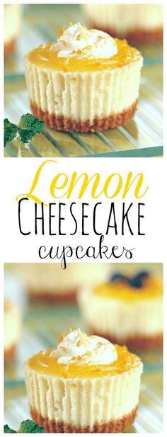 Mini Lemon Cheesecakes topped with lemon curd. Simple Dessert Recipe. The Flying Couponer   Family. Travel. Saving Money.