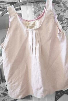 Swing Top in Silk and Linen Blend Eco Altered Clothing Dusty Pink Vintage Shabby Prairie Sleeveless Tank Romantic Boho. 42.50, via Etsy.