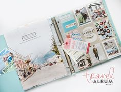 POCKET SCRAPBOOK LAYOUT ~ Love the full page photo.